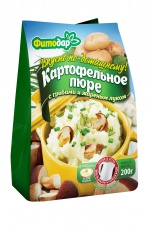 """Картофельное пюре с грибами и жареным луком  """"Вкусно по-домашнему"""" быстрого приготовления"""